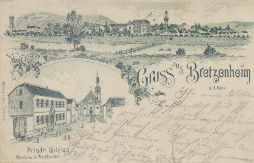 historische Postkarte von Bretzenheim